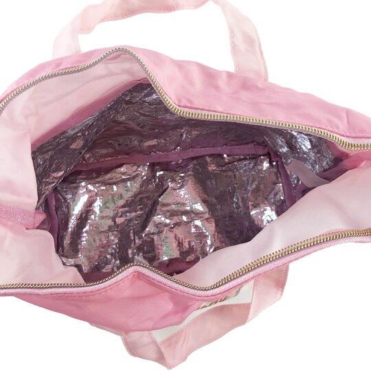 小禮堂 美樂蒂 折疊尼龍環保便當袋 環保購物袋 保冷提袋 (粉 女僕)