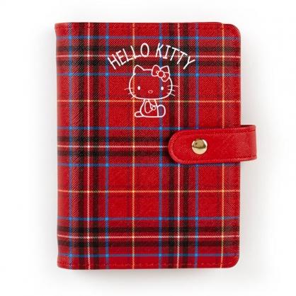 小禮堂 Hello Kitty 2021 扣式6孔活頁行事曆 手帳 年曆 記事本 六孔夾 (紅 格紋)