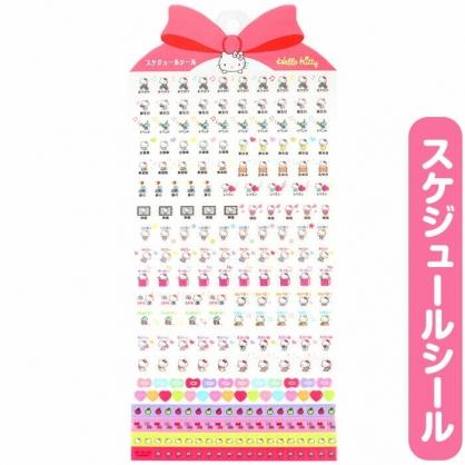 小禮堂 Hello Kitty 日製 造型年曆貼紙 標記貼紙 手帳貼紙 透明貼紙 (紅)