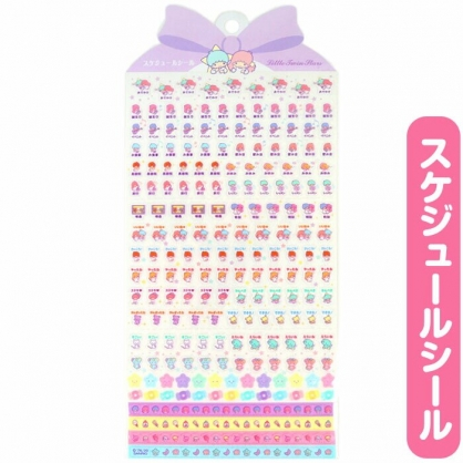 小禮堂 雙子星 日製 造型年曆貼紙 標記貼紙 手帳貼紙 透明貼紙 (紫)
