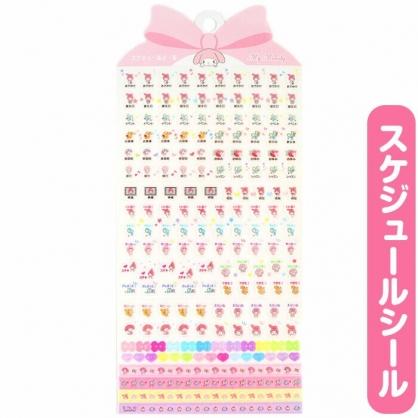 小禮堂 美樂蒂 日製 造型年曆貼紙 標記貼紙 手帳貼紙 透明貼紙 (粉)