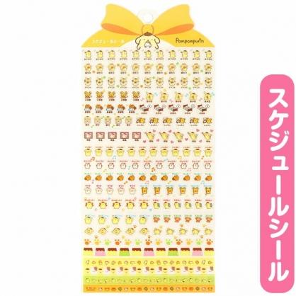 小禮堂 布丁狗 日製 造型年曆貼紙 標記貼紙 手帳貼紙 透明貼紙 (黃)