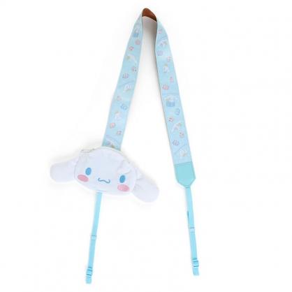 小禮堂 大耳狗 造型尼龍織帶相機背帶 附收納包 相機頸掛繩 相機繩 (藍 大臉)