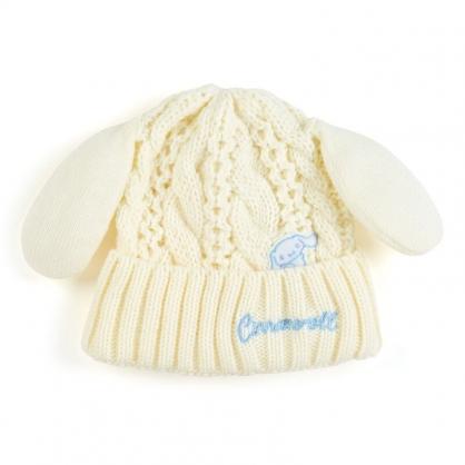 小禮堂 大耳狗 兒童耳朵造型針織毛線帽  毛線帽 保暖帽 毛帽  (米藍 2020冬日特輯)
