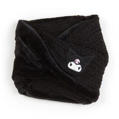 小禮堂 酷洛米 成人針織絨毛圍脖圍巾 保暖圍巾 脖圍 (黑 2020冬日特輯)