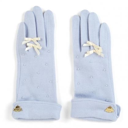 小禮堂 大耳狗 成人造型棉質手套 觸控手套 保暖手套 (淺藍 2020冬日特輯)