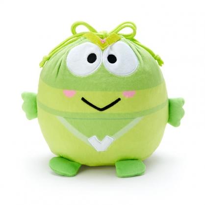 小禮堂 大眼蛙 造型絨毛束口袋 旅行收納袋 小物袋 縮口袋 (綠 英雄戰隊)