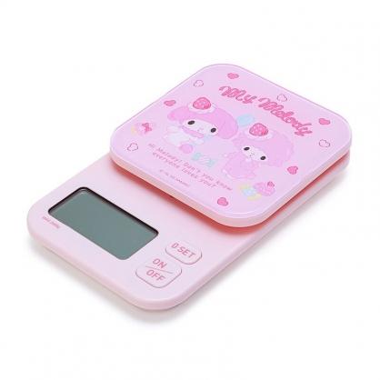 小禮堂 美樂蒂 方形壓克力電子磅秤  電子秤 計量秤 料理秤 (粉 草莓)