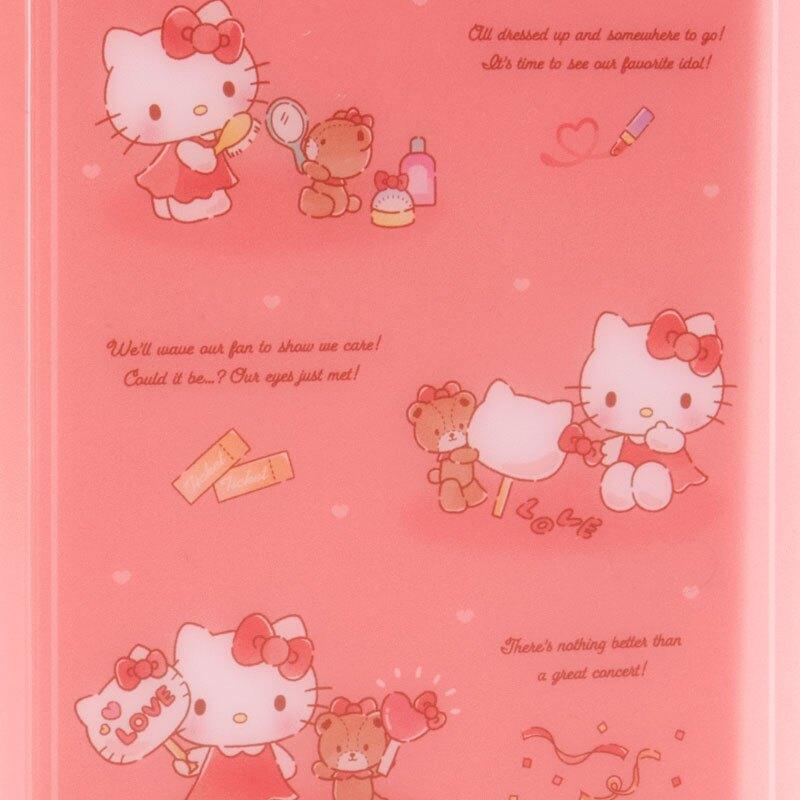 小禮堂 Hello Kitty 票據收納本資料夾 門票收納夾 檔案夾 文件夾 (玫紅 演唱會粉絲收納)