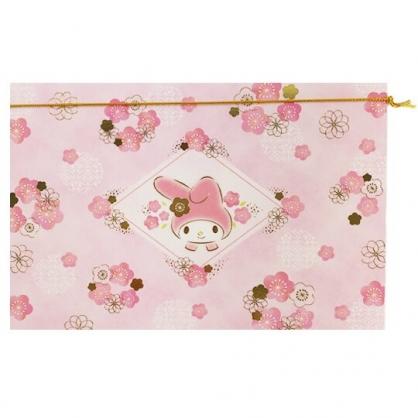 小禮堂 美樂蒂 橫式萬用卡片 祝賀卡 送禮卡 節慶卡 (粉金 櫻花)