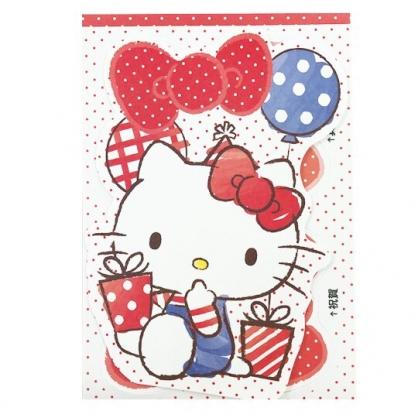小禮堂 Hello Kitty 造型直式萬用卡片 祝賀卡 送禮卡 節慶卡 (紅白 汽球)