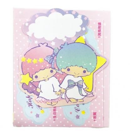 小禮堂 雙子星 造型直式萬用卡片 祝賀卡 送禮卡 節慶卡 (粉綠 星星)