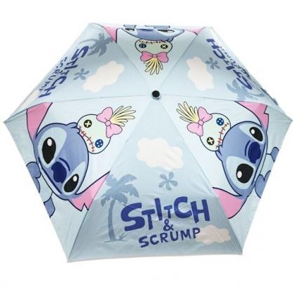 小禮堂 迪士尼 史迪奇 折疊雨陽傘 三折雨傘 折疊雨傘 雨具 (藍 側身)