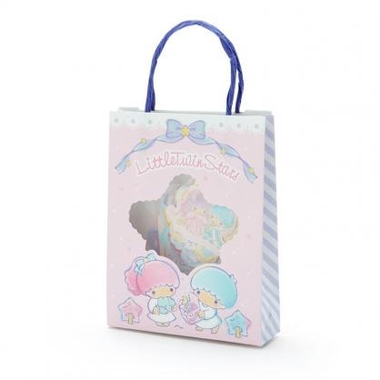 小禮堂 雙子星 日製 手提紙袋造型貼紙組 手帳貼紙 卡片貼紙 裝飾貼紙 (粉藍)