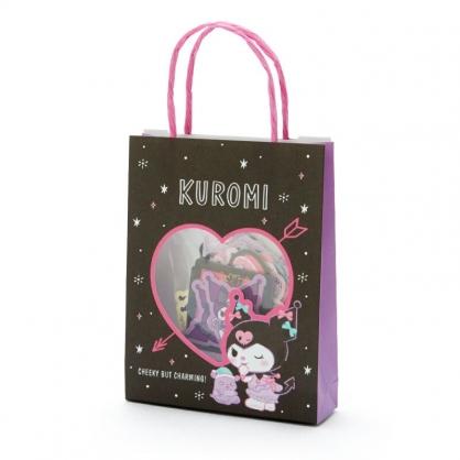小禮堂 酷洛米 日製 手提紙袋造型貼紙組 手帳貼紙 卡片貼紙 裝飾貼紙 (黑紫)