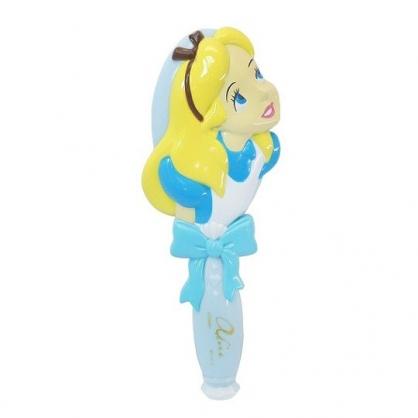 小禮堂 迪士尼 愛麗絲 造型塑膠手握梳 直梳 塑膠梳 (藍黃 抬頭)