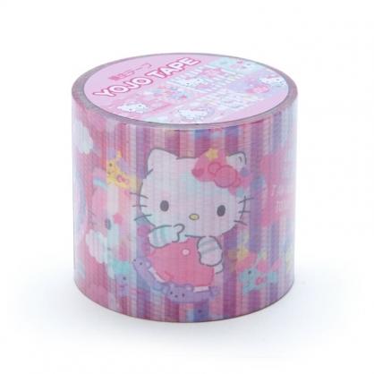 小禮堂 Hello Kitty 日製 寬版透明膠帶 防水膠帶 包裝膠帶 寬膠帶 4cmx4m (紫 彩色熊)
