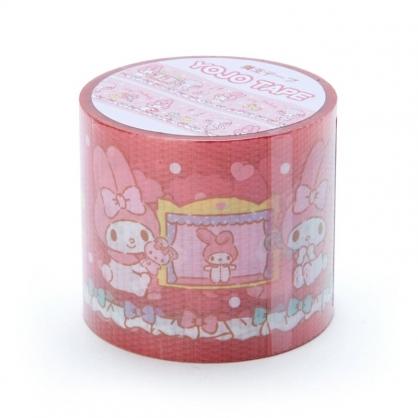 小禮堂 美樂蒂 日製 寬版透明膠帶 防水膠帶 包裝膠帶 寬膠帶 4cmx4m (粉 綿羊)