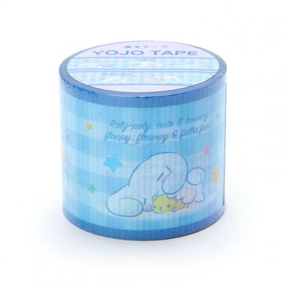 小禮堂 大耳狗 日製 寬版透明膠帶 防水膠帶 包裝膠帶 寬膠帶 4cmx4m (藍 格紋)