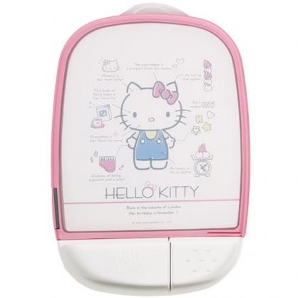 小禮堂 Hello Kitty 方形圓角塑膠砧板 磨刀石 佐料盤 切菜板 菜砧 (粉邊 分析)
