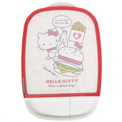 小禮堂 Hello Kitty 方形圓角塑膠砧板 磨刀石 佐料盤 切菜板 菜砧 (紅邊 速食)