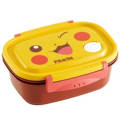 小禮堂 神奇寶貝 日製 輕量型微波便當盒 塑膠便當盒 保鮮盒 550ml (黃棕 大臉)