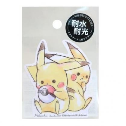 小禮堂 神奇寶貝 皮卡丘 造型防水貼紙 卡片貼紙 裝飾貼紙 (黃 兩隻)