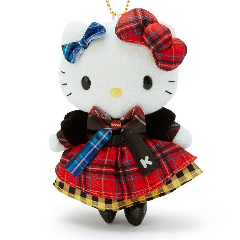 小禮堂 Hello Kitty 絨毛吊飾 玩偶吊飾 玩偶鑰匙圈 包包吊飾 (紅黑 雙胞胎生日慶)