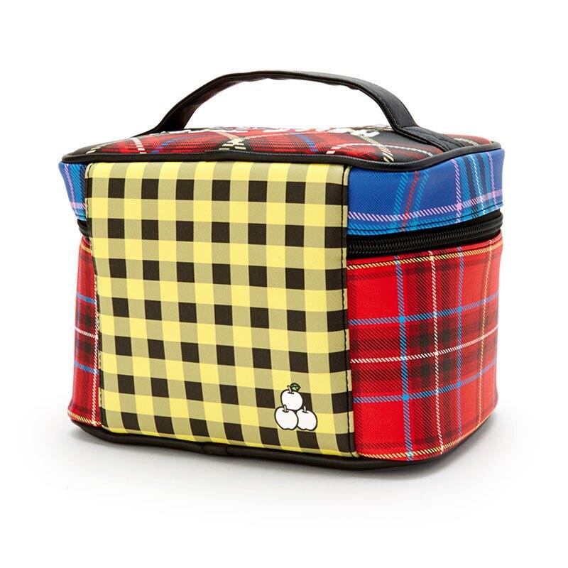 小禮堂 Hello Kitty 皮質手提化妝包 皮質化妝包 盥洗包 化妝箱 (紅黃 雙胞胎生日慶)