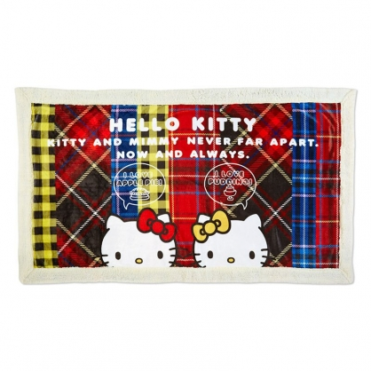 小禮堂 Hello Kitty 法蘭絨毯披肩 單人毯 薄毯 毛毯 蓋毯 68x120cm (紅黃 雙胞胎生日慶)