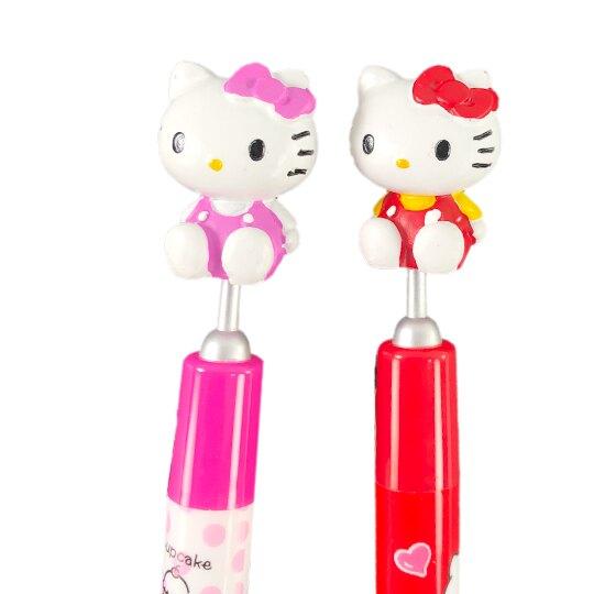 小禮堂 Hello Kitty 玩偶造型原子筆 自動筆 中性筆 藍筆 0.5mm (2款隨機)