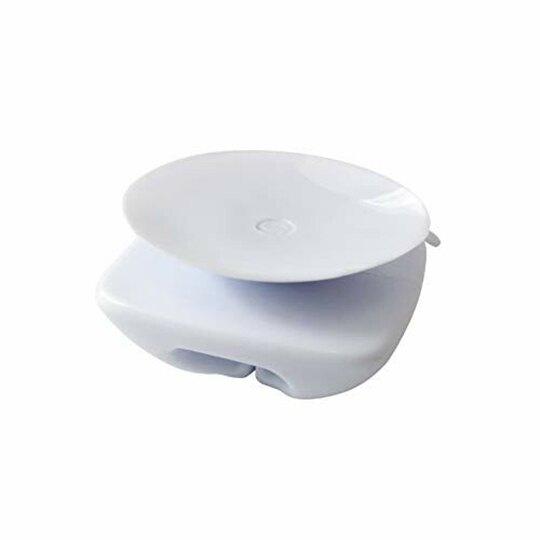 小禮堂 TOWA 吸盤式方形塑膠袋掛勾組 垃圾袋掛勾 掛物勾 吊勾 (2入 白)