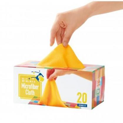 小禮堂 盒裝抽取式抹布組 擦拭布 吸水巾 毛巾 20x20cm (20入 黃)