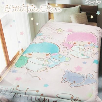 小禮堂 雙子星 超柔毯被 單人毯被 厚毯被 墊被 保暖被 5x6.5尺 (粉 小熊)