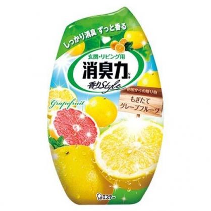 小禮堂 雞仔牌 日製 瓶裝室內芳香劑 浴廁芳香劑 除臭劑 柑橘香 400ml (黃)