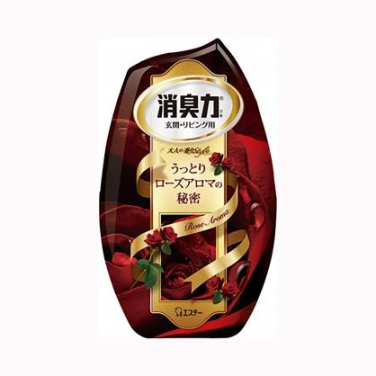 小禮堂 雞仔牌 日製 瓶裝室內芳香劑 浴廁芳香劑 除臭劑 玫瑰香 400ml (紅)