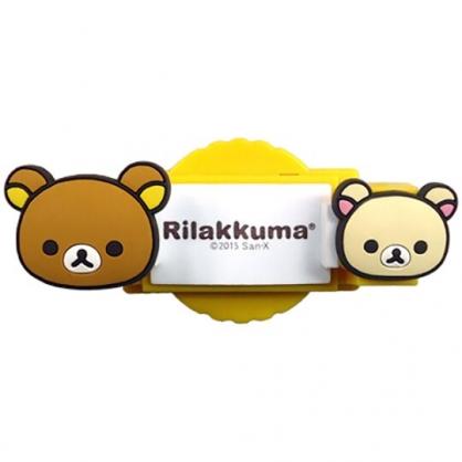 小禮堂懶懶熊 車用造型矽膠手機架 手機立架 小物架 車用置物架 (黃棕 大臉)