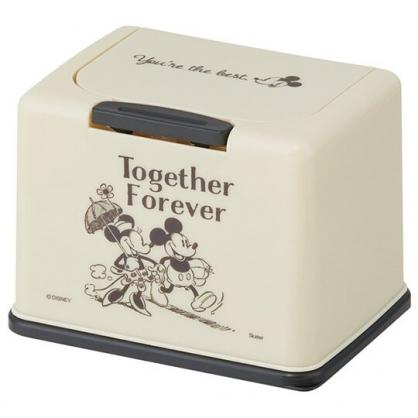 小禮堂 迪士尼 米奇米妮 塑膠按壓彈蓋面紙盒 袖珍面紙盒 抽取式紙巾盒 濕巾盒 (米 牽手)