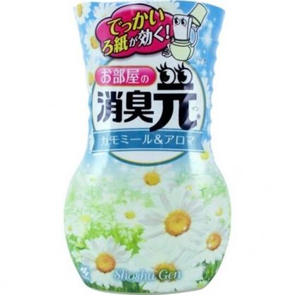 小禮堂 雞仔牌 日製 瓶裝室內芳香劑 浴廁芳香劑 除臭劑 雛菊香 400ml (藍)