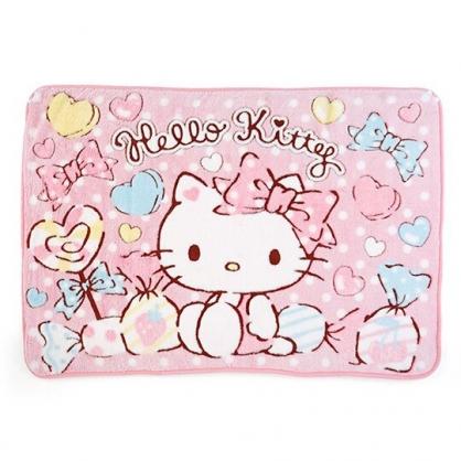 小禮堂 Hello Kitty 圓角毛毯披肩 單人毯 薄毯 蓋毯 70x100cm (粉 糖果)