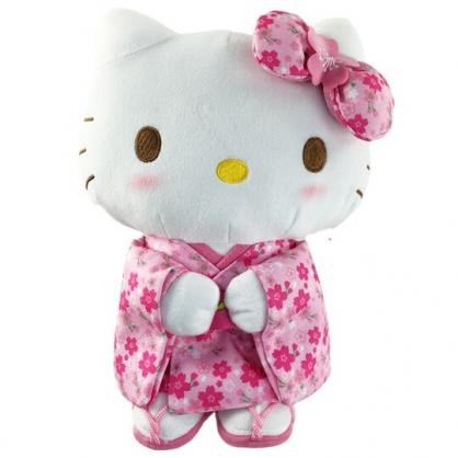 小禮堂 Hello Kitty 絨毛玩偶 絨毛娃娃 布偶 (M 粉櫻花和服)