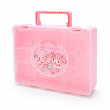 小禮堂 美樂蒂 方形塑膠手提工具箱 藥箱 針線箱 收納提箱 (粉 手工藝)