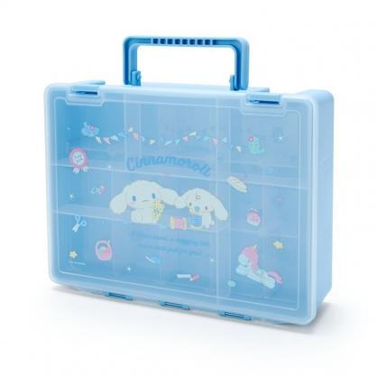 小禮堂 大耳狗 方形塑膠手提工具箱 藥箱 針線箱 收納提箱 (藍 手工藝)