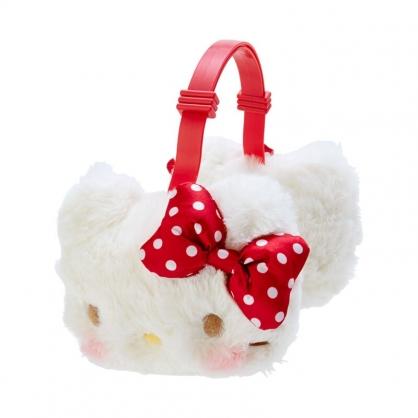 小禮堂 Hello Kitty 兒童造型絨毛耳罩 防寒耳罩 保暖耳罩 (紅白 2020冬日特輯)