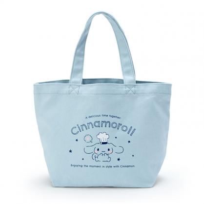 小禮堂 大耳狗 帆布保冷便當袋 保冷提袋 野餐袋 手提袋 (藍 廚師)