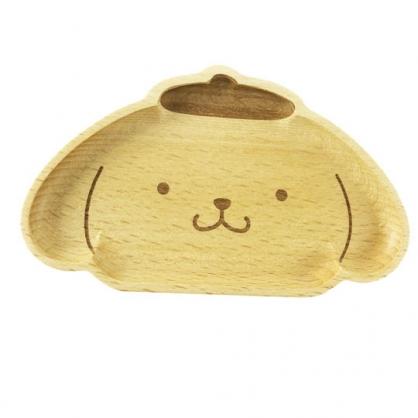 小禮堂 布丁狗 造型木質飾品盤 肥皂盤 小木盤 小物盤  (棕 大臉)
