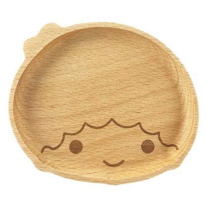 小禮堂 雙子星KIKI 造型木質飾品盤 肥皂盤 小木盤 小物盤  (棕 大臉)