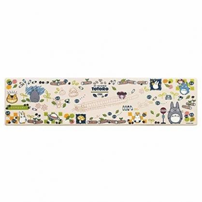 小禮堂 龍貓 長方形矽膠地墊 軟墊 腳踏墊 遊戲墊 抗菌防臭 45x180cm  (米綠 站牌)