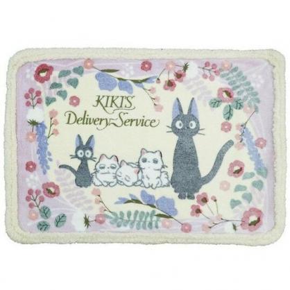 小禮堂 魔女宅急便 圓角毛毯披肩 單人毯 薄毯 蓋毯 70x100cm (紫黃 白貓)
