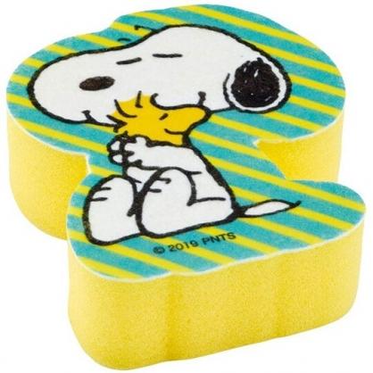 小禮堂 史努比 造型清潔海綿 鍋刷 菜瓜布 洗碗刷 (綠黃 抱抱)